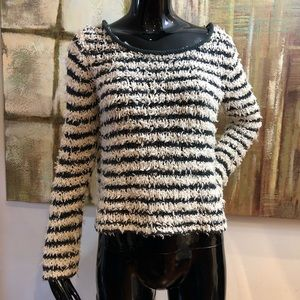 Free People Pullover Fuzzy Stripe Small
